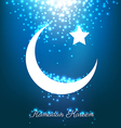 Beautiful bright moons and stars on blue vector image