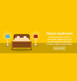 classic bedroom banner horizontal concept vector image