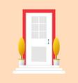 colorful door concept door flat icon design your vector image