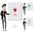 Creative man makes a presentation vector image