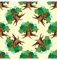 Dark Enchanted Vintage Trees seamless pattern vector image
