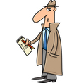 detective or journalist cartoon vector image