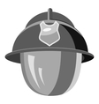 Firefighter helmet with mask icon vector image