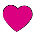 pink love heart romance valentine beauty vector image