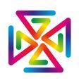 rainbow pinwheel vector image