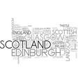 scotland word cloud concept vector image