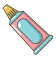 toothpaste tube icon cartoon style vector image