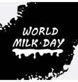 World Milk Day background vector image