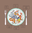 seafood infographic vector image
