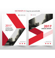 Red arrow abstract annual report brochure vector image