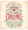 Christmas and New Year hand lettering vector image