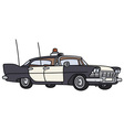 Classic big police car vector image