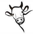 cow simple icon in black lines vector image