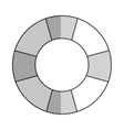 grey lifesaver icon vector image