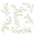 floral design elegant vector image