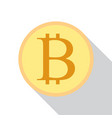 bitcoin crypto currency flat style vector image