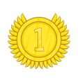 Champion gold medal icon cartoon style vector image