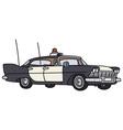 Classic big police car vector image