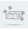 Line Art Money Icon vector image