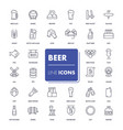 line icons set beer vector image