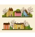 Suburban residential street in flat design vector image