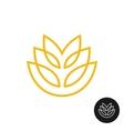 Wheat ear linear style logo vector image