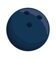 blue ball bowling sport shadow icon vector image