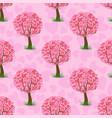 heart tree pattern vector image