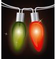 Christmas lights design vector image