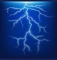 blue lightning strike effect vector image