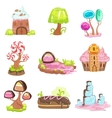 Fairy-tale Landscape Elements Made Of Sweets And vector image