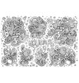 Line art set of holidays object vector image