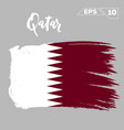 qatar flag brush strokes painted vector image