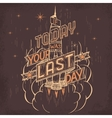 Space retro poster hand-lettering vector image