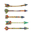 tribal arrows vector image
