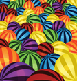 Colorful balls background vector image vector image