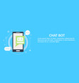 Chat bot on phone banner vector image
