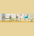 military hospital concept vector image