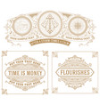 set of 3 vintage cards vector image