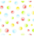 Bright sunny seamless patten Summer and spring vector image