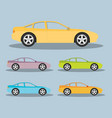 car in flat style vector image