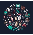 Circle of modern flat design hipster vector image