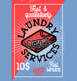 color vintage laundry services banner vector image