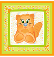 cute card for baby vector image