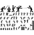 ICON MAN NINJA vector image