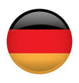 isolated flag of germany vector image