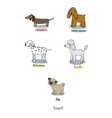 cute cartoon dogs of various breeds vector image