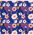 fantasy flowers seamless pattern vector image