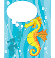 talking sea horse vector image vector image