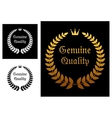 Genuine quality label vector image